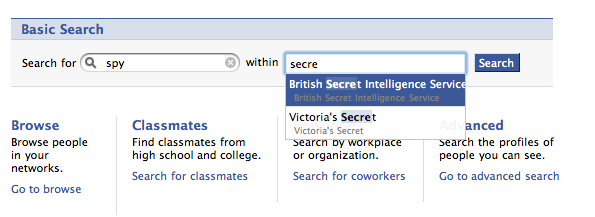 British Intelligence on Facebook